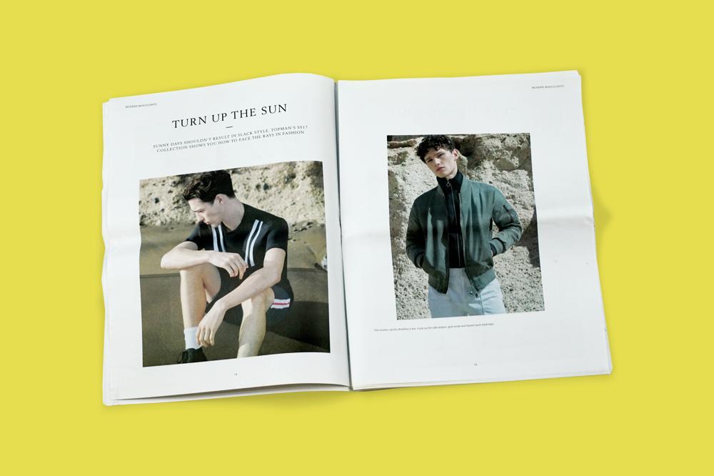 "Topman explores ""modern masculinity"" with a newsprint magazine"