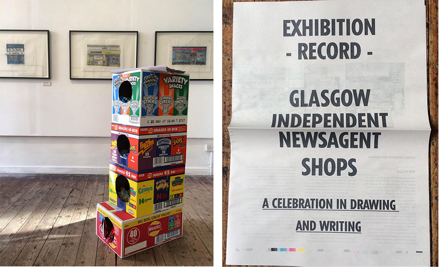 will knight glasgow newsagents illustartion exhibition