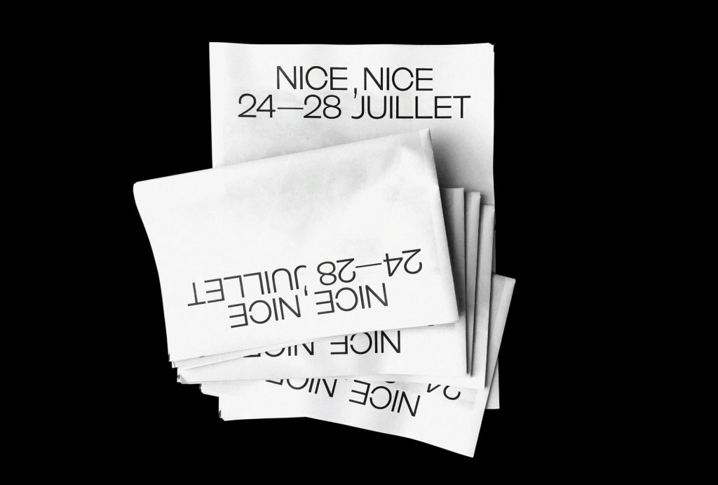 Brighton-based designer Ian Caulkett just printed his second newspaper with us – a zine called NICE, NICE that lives up to its name. A collection of 35mm shots from his recent birthday week in Nice, Côte d'Azur, featuring a bold, type-heavy front cover.