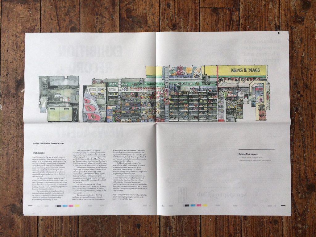will knight glasg newsagent illustrations newspaper