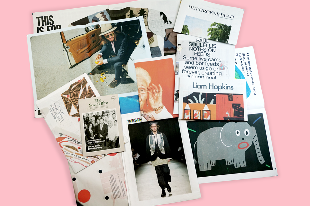 Newspaper Club print roundup for August! See all the newsprint catalogues, portfolios, zines, and posters we printed this month.