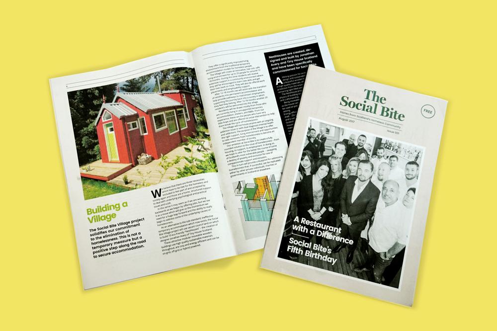 Social Bite newspaper printed by Newspaper Club