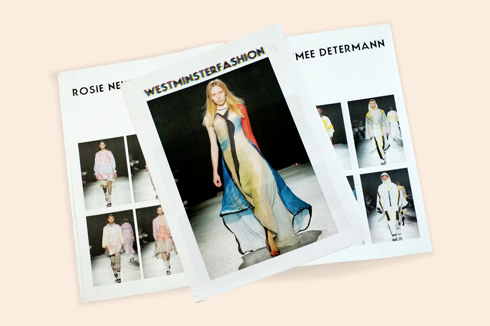 Westminster Fashion newspaper lookbook newsprint