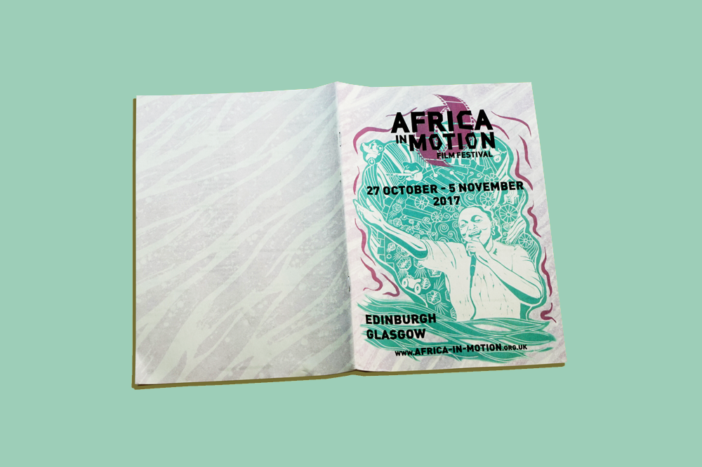 Africa in Motion film festival programme printed by Newspaper Club
