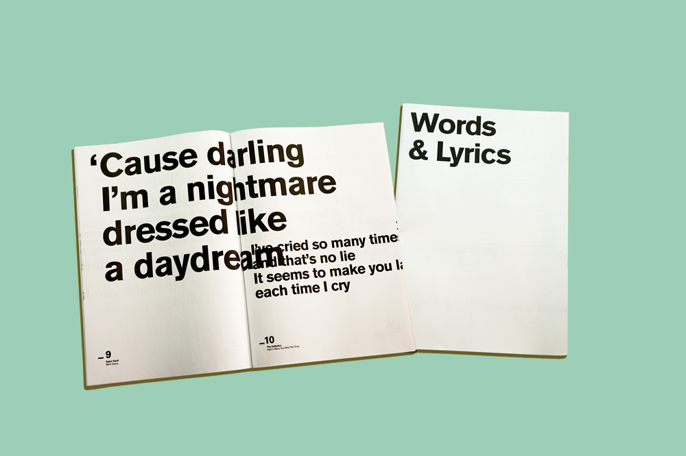 Pentagram Words & Lyrics newspaper