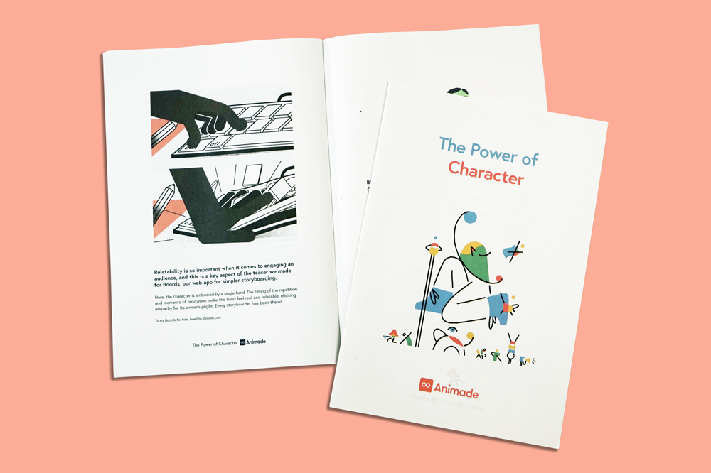 The Power of Character: Animade Studio Newspaper. Printed by Newspaper Club.