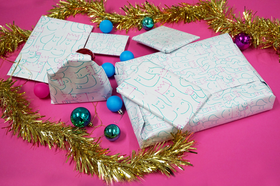 How to make your own wrapping paper with newsprint