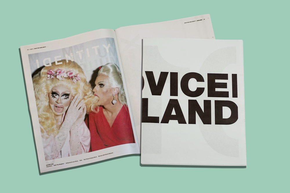 "VICELAND, the boundary-pushing TV channel from VICE Media, put their brand mission into print with a tabloid. As a handout for employees, ""newsprint was our preferred choice,"" VICE tells us. ""It conveys our unbranded and ""person on the street"" approach to content."" Printed by Newspaper Club."