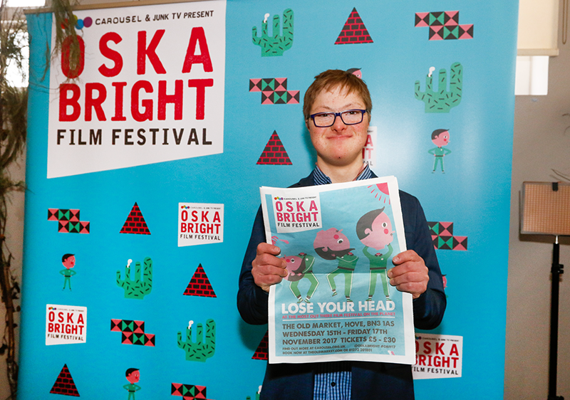 Returning for its 8th edition, the Oska Bright Film Festival in Brighton is the leading international festival of films made by, or featuring, people with learning disabilities. It's also produced, managed and presented by a learning disabled team. This year's programme, printed as a traditional tabloid, feature a playfully gruesome cover illustration by Billy Mather and Sarah Watson.