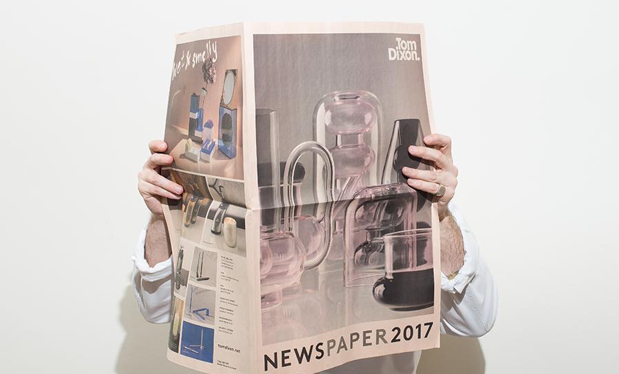 Tom Dixon newspaper catalogue