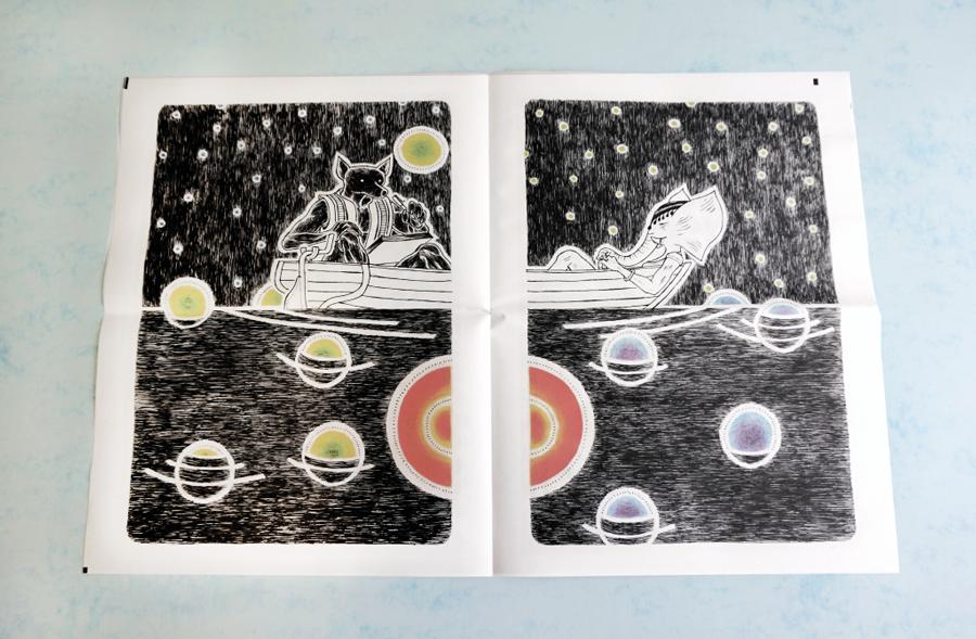 Lila #2 illustrated newspaper by David Mathews