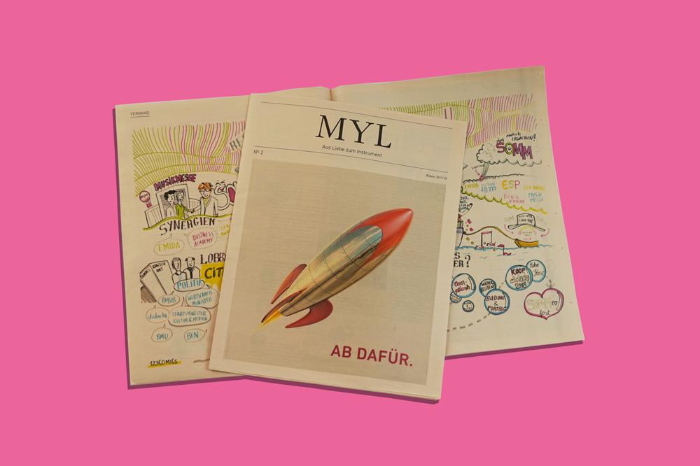 MYL Mitgliederzeitung Salmon newspaper