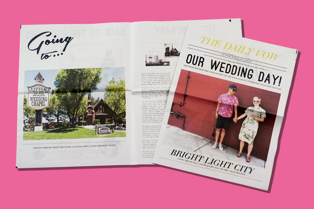 8 Ideas for Creative Wedding Newspapers