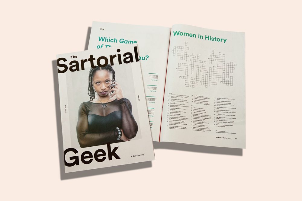 Sartorial Geek zine from Jordanene printed by Newspaper Club