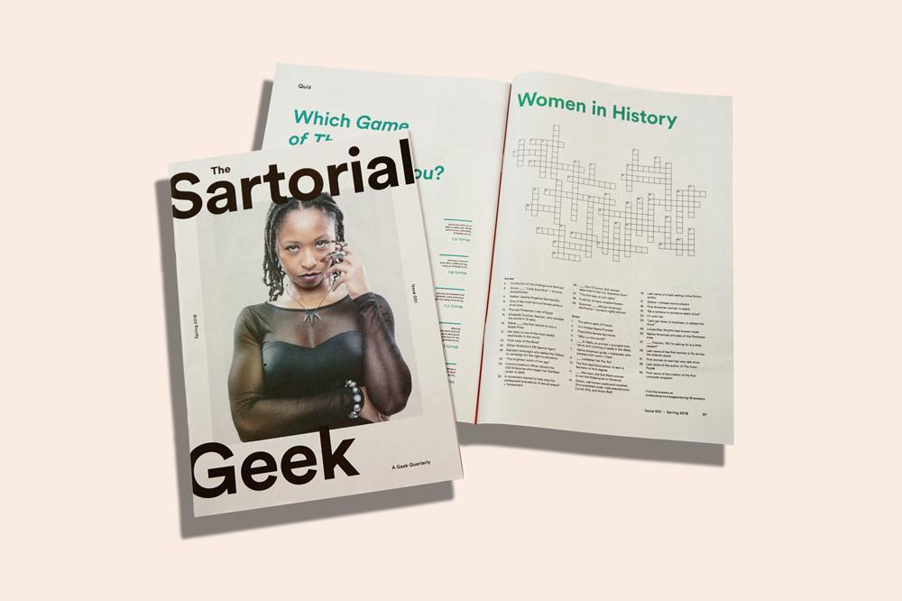 Sartorial Geek zine from Jordanene printed by Newspaper Club