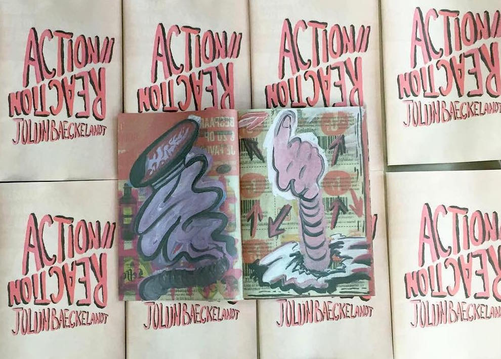 Action Reaction art newspaper by Jolijn Baeckelandt