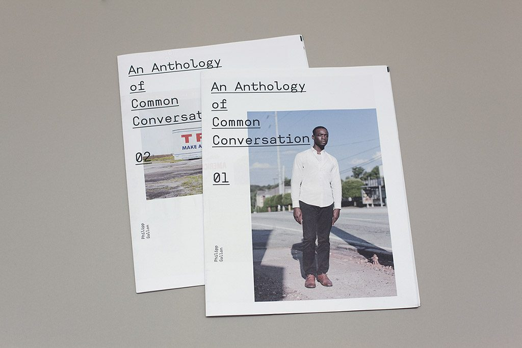 An Anthology of Common Conversation photobook zine Philipp Gallon printed by Newspaper Club