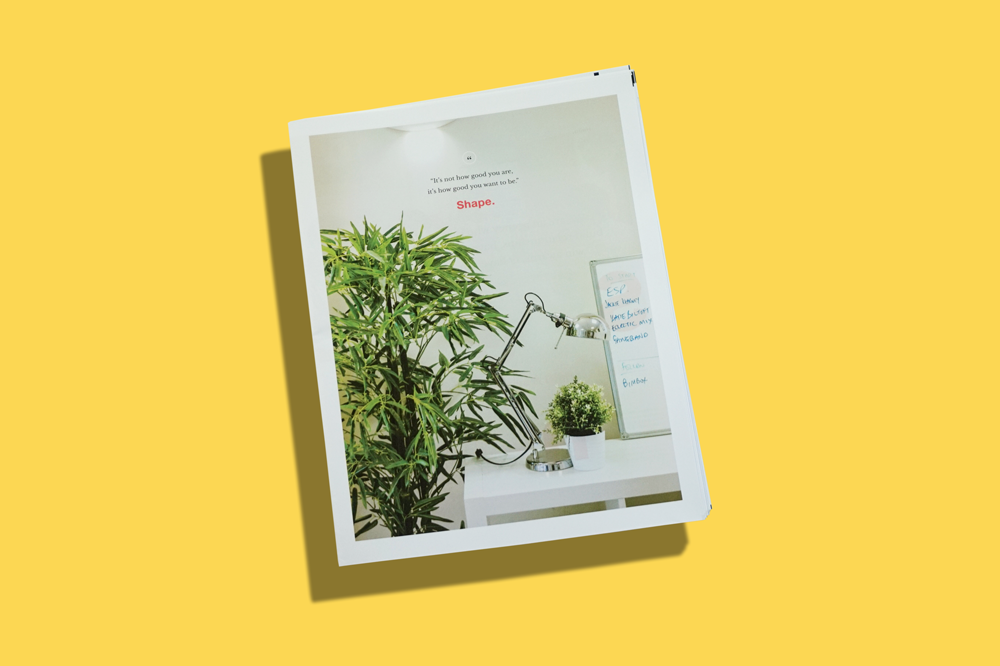 MadeByShape design agency promo newspaper. Print your own newspaper with Newspaper Club.