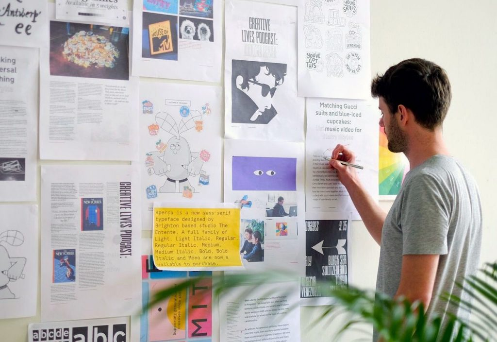 Making of the Lecture in Progress newspaper with Kaleido Grafik