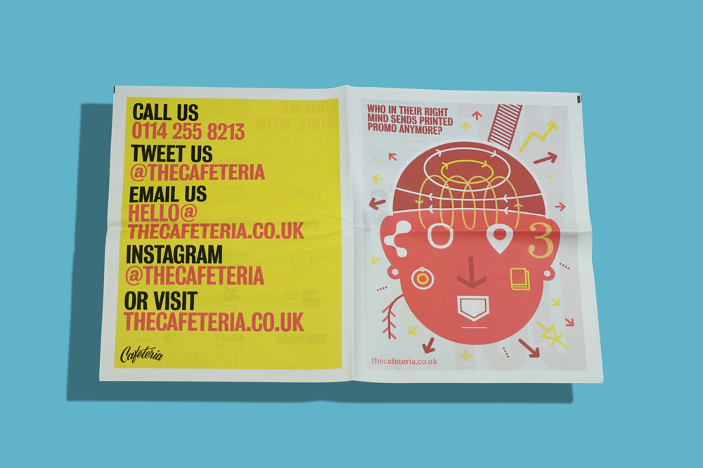 """Creative agency Cafeteria put together this portfolio of work they've done for the University of Sheffield over the years. They think of it as a """"bright and breezy papery hello!"""""""