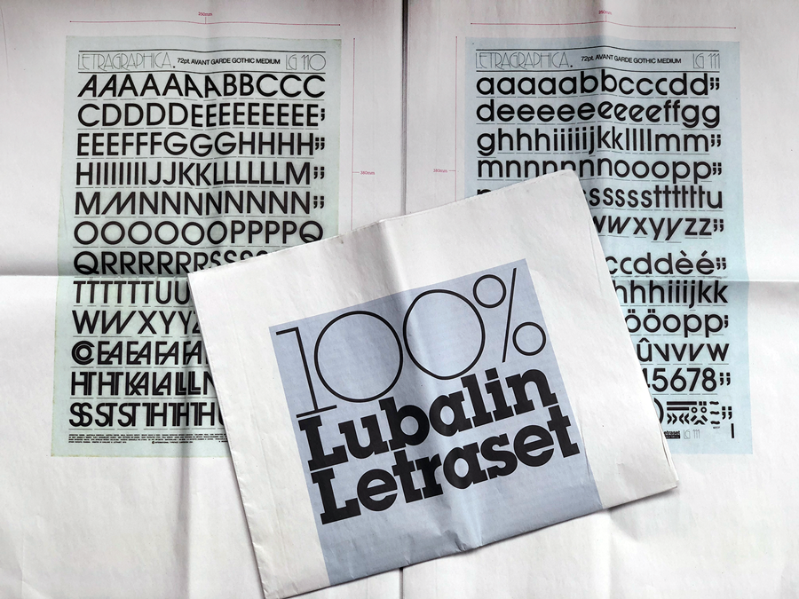 Herb Lubalin Letraset Newspaper for Typographics