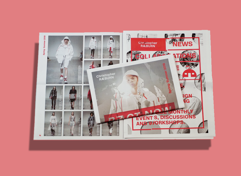 Christopher Raeburn lookbook fashion newspaper