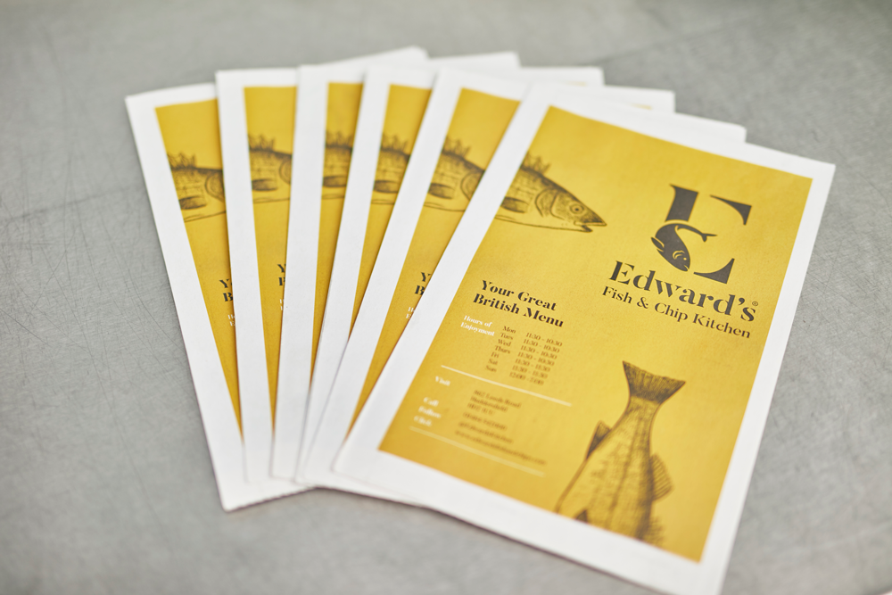 Edward's Fish and Chip newspaper. Print your own newspaper with Newspaper Club at newspaperclub.com