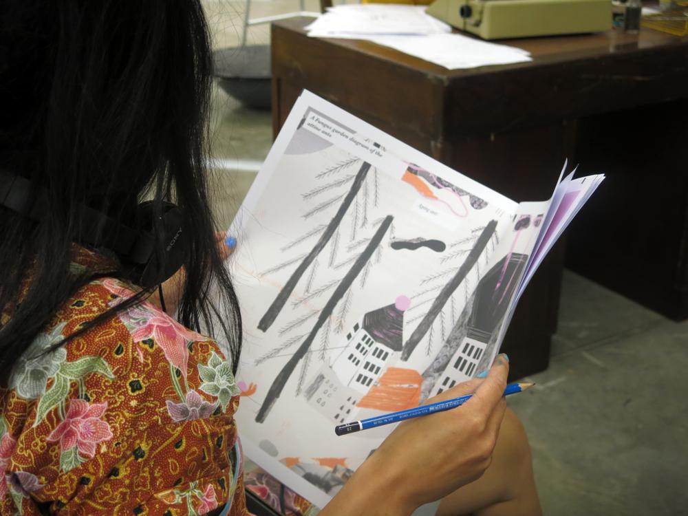 Illustrator Liv Bargman's graduate show at Central Saint Martins, UAL