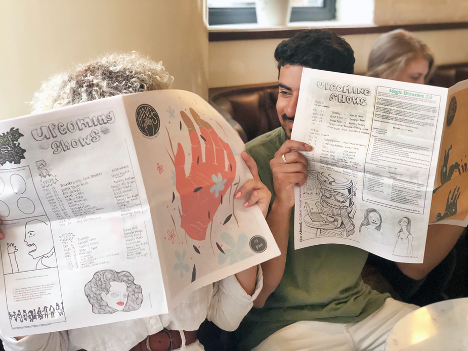 Hands newspaper founded by Chelsea Trout and Arpan Somani. Print your own newspaper with Newspaper Club.