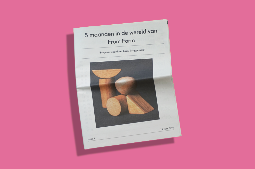 """Lara Bruggeman's http://www.larabruggeman.nl/ """"fascination for newspaper design"""" inspired her to create this digital tabloid about her experience interning at Free Form, a Rotterdam-based design studio. """"The imperfections of the newspaper printing process excite me,"""" she says. """"And the spaciousness of the pages allowed me to play with the balance between text, images and white space."""" Print your own newspaper with Newspaper Club."""