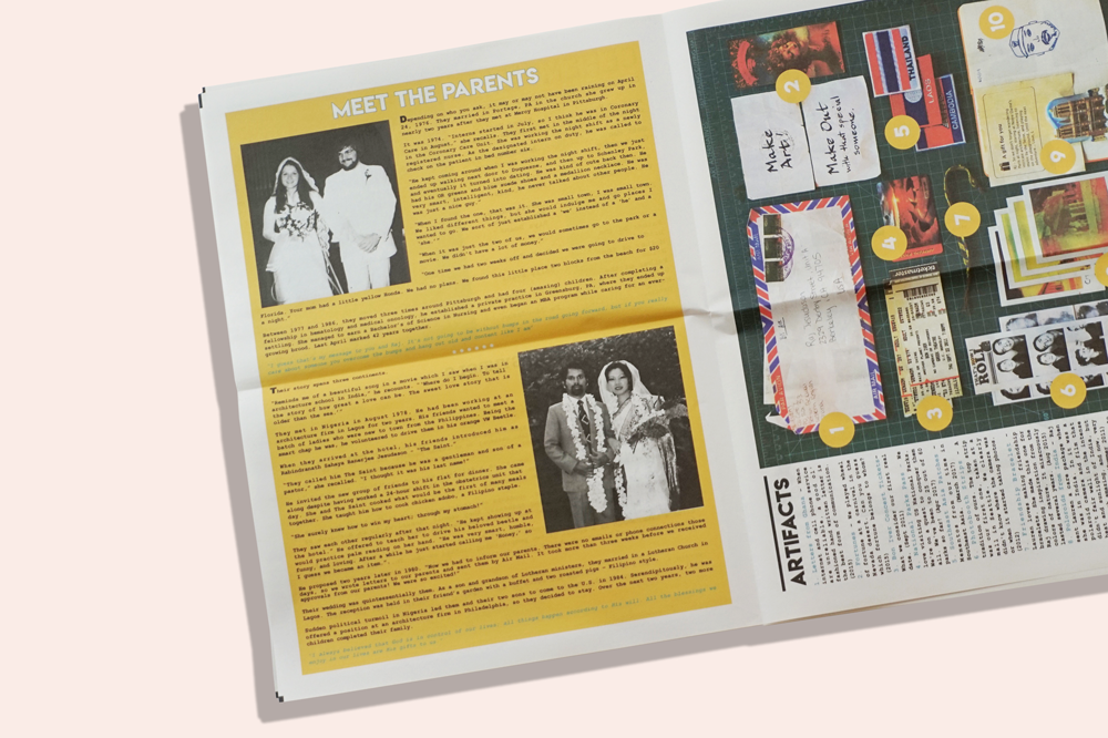 How to design your own wedding program newspaper — with a 3D image!