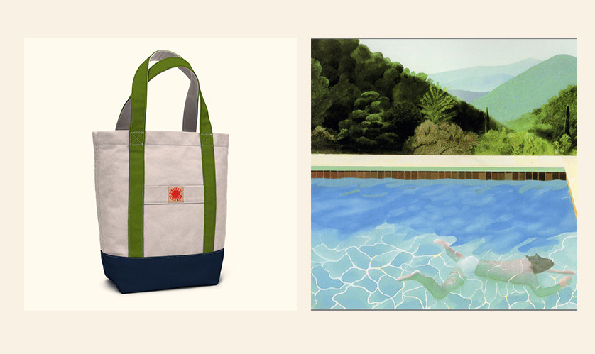 pacific tote inspiration: David Hockney swimming pool