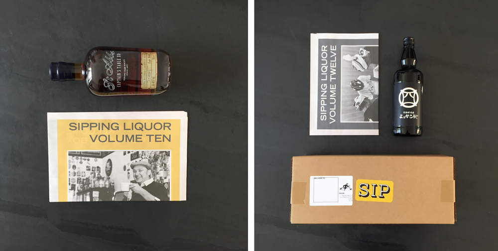 """Sipping Liquor Every other month, members of the Sipping Liquor (https://www.sippingliquor.com/) craft spirits club receive a bottle of premium spirits on the doorstep—along with a newsprint magazine explaining why it's special. There's also an interview with someone from the distillery and photos of the people who made the liquor. The latest edition (pictured above ) was delivered with Yokka Koji awamori from Japan. Before that was Christian Drouin calvados from France (pictured above left). and St Abb's rum from the Caribbean. """"We chose newsprint because it's distinctive and gives us a large canvas to play with different designs,"""" says (fittingly named!) founder Andrew Rummer. """"We've received great feedback from customers after using Newspaper Club for the past three magazines."""""""