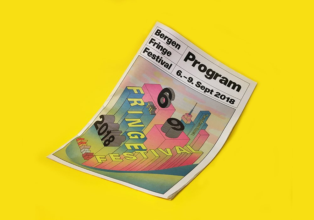"Bergen Fringe Festival Programme Traditional mini printed on 55gsm improved newsprint With over 200 fringe festivals happening around the world each year, it can be tough to make your city's stand out. But that didn't deter Bergen Fringe Festival (https://norwayfringe.com) designer Camilla Gjerde Lund (www.instagram.com/millamat): ""Festivals are fun to work with – you have the freedom to make something fresh and playful every year!"" For this year's programme, she used a mini newspaper – with a prismatic colour palette inspired by ""the fringe mentality"" – to set Bergen's festival apart. ""I just love the texture of the paper – it really makes the program stand out,"" she says. ""People engage differently with information presented in an unusual way."""