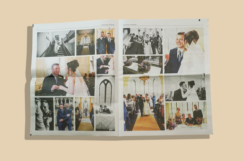 How 3 couples used a newspaper to celebrate their wedding. Print your own newspaper with Newspaper Club.