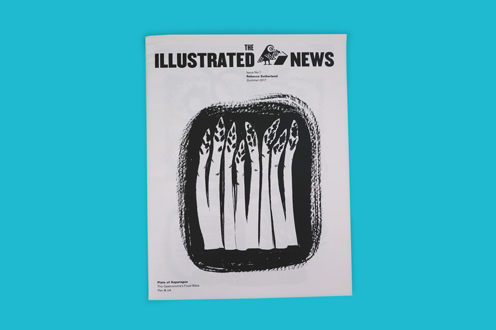 "If only all news could be as lovely as The Illustrated News, an annual mailer from London-based artist Rebecca Sutherland http://rebeccasutherland.co.uk/. This year's edition includes sketches of Sutherland's logo for one for Britain's oldest shoe brand, Start-rite, and an animated flipbook for the French television channel Arte. ""To tie all of my work together, I only use black and white images,"" says Sutherland. ""I see the paper as a taster of work that can be found online and people are always delighted to receive them in the post."""