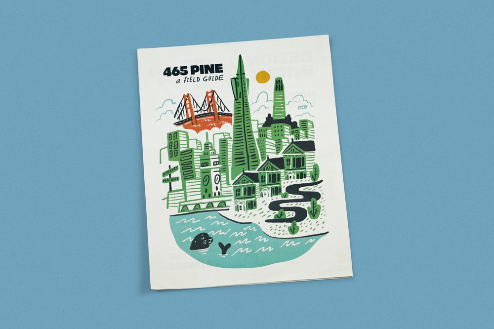 To celebrate their new office in San Francisco, software company Atlassian gave employees this newspaper during their first tour. Inside is a guide to the new neighbourhood, design thinking behind the architecture and practical information around new policies, plus maps of each floor. Design by Sara VanSlyke with illustrations by Bryan Schuldt.