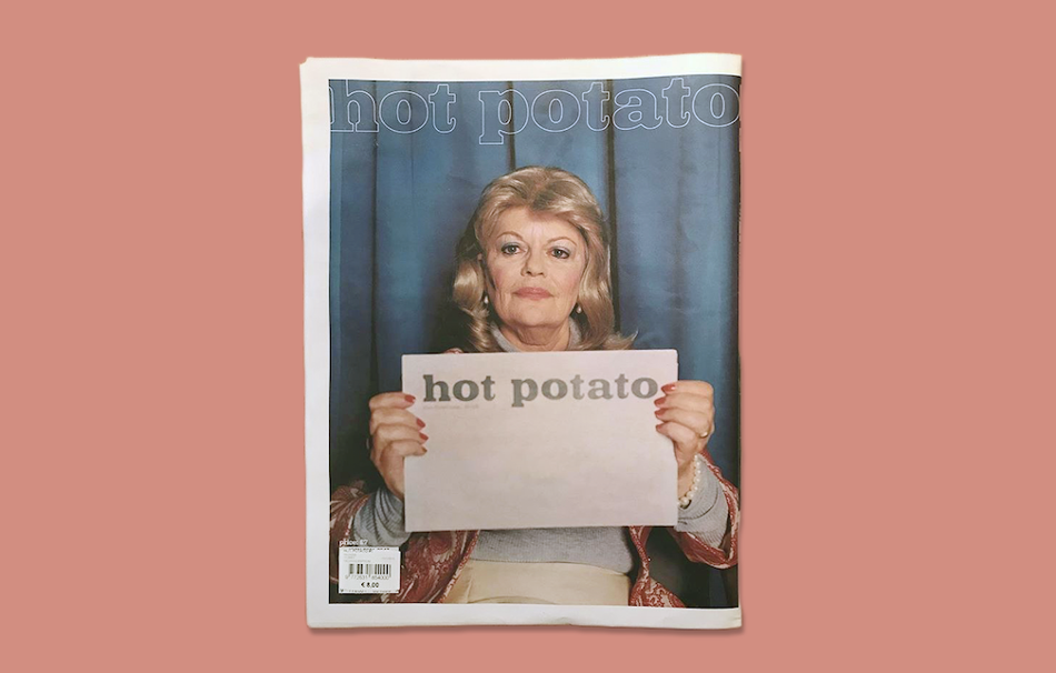 "Hot Potato is a new arts and politics magazine, printed in English and French, and published ""twice a year or so."" Founder Naoise O'Keeffe explains the concept: ""A creative team and a journalist are both given the same topic. Without meeting or having a discussion beforehand, they are asked to respond accordingly."" The result is an offbeat juxtaposition of text and imagery – in the first tissue, on topics of Brexit, gender, gun control and and climate change. Design by Maud Vervenne."