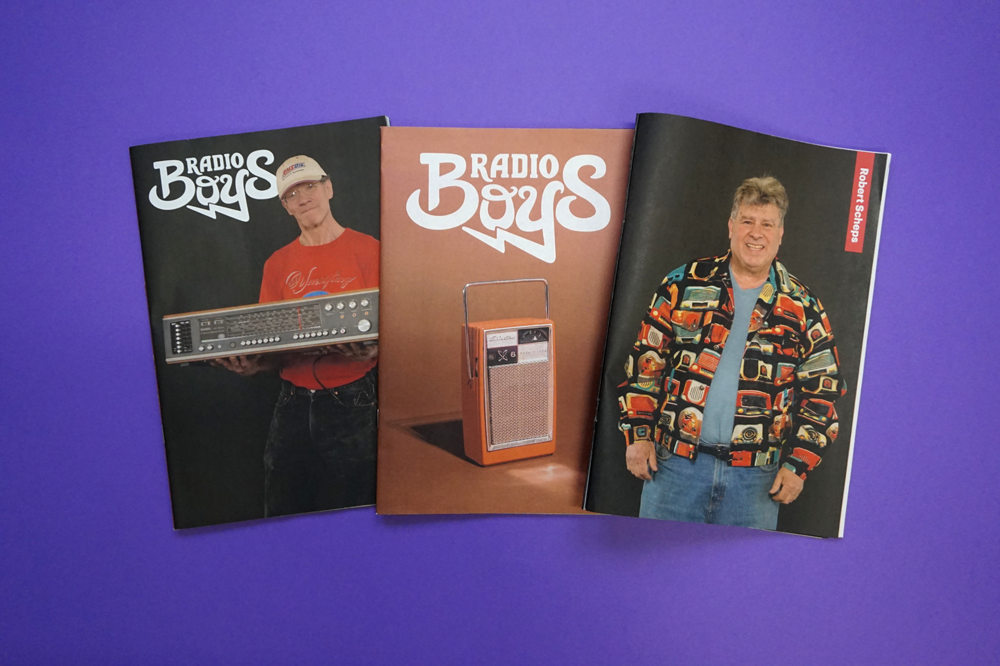Radio Boys documents collectors preserving an analog past. Photography zine by Sophie Butcher and Martin Diegelman. Printed by Newspaper Club.