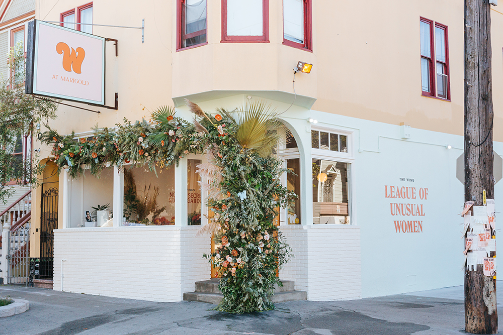 The Wing Not-So-Secret Secret Garden pop-up in San Francisco