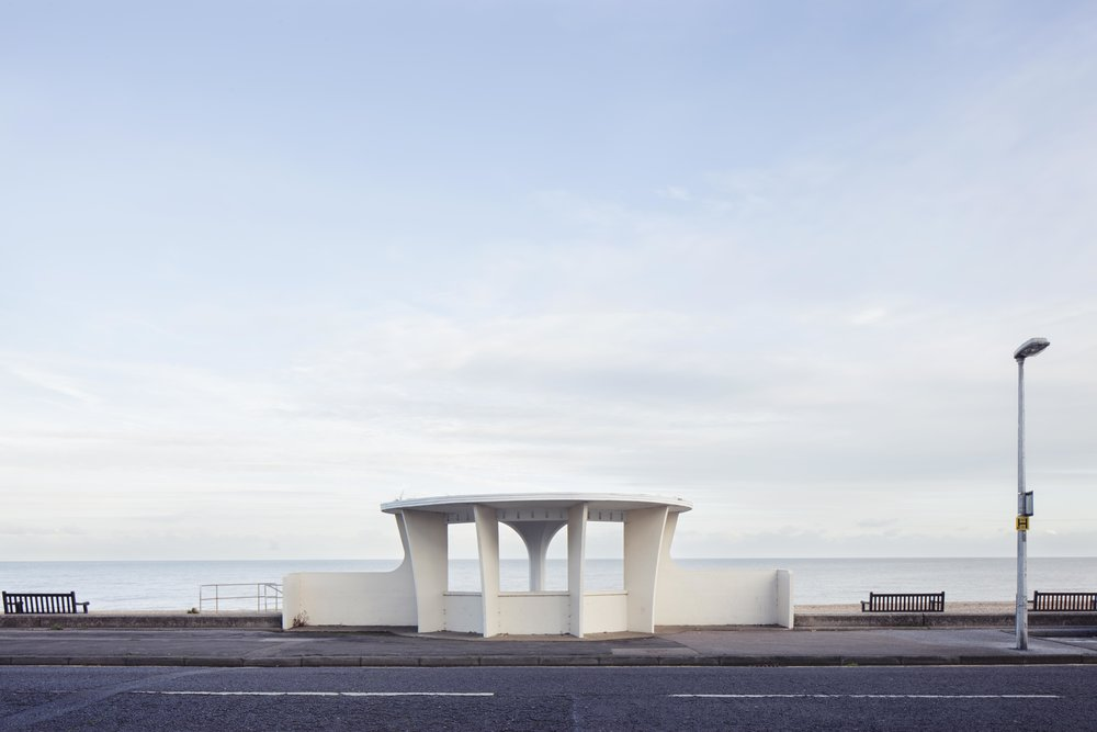 A seaside shelter in DEAL, Kent photographed by Will Scott
