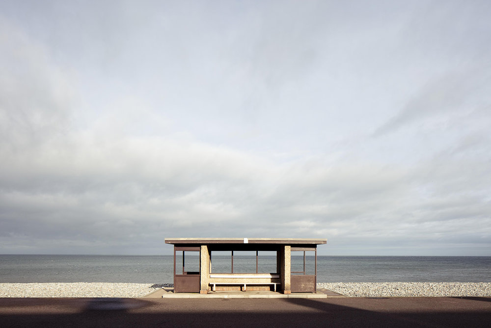 Seaside shelter in LLANDUDNO Wales photographed by Will Scott.