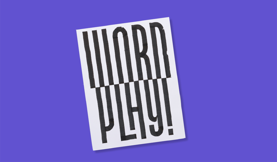 Word Play by Guido de Boer printed by Newspaper Club