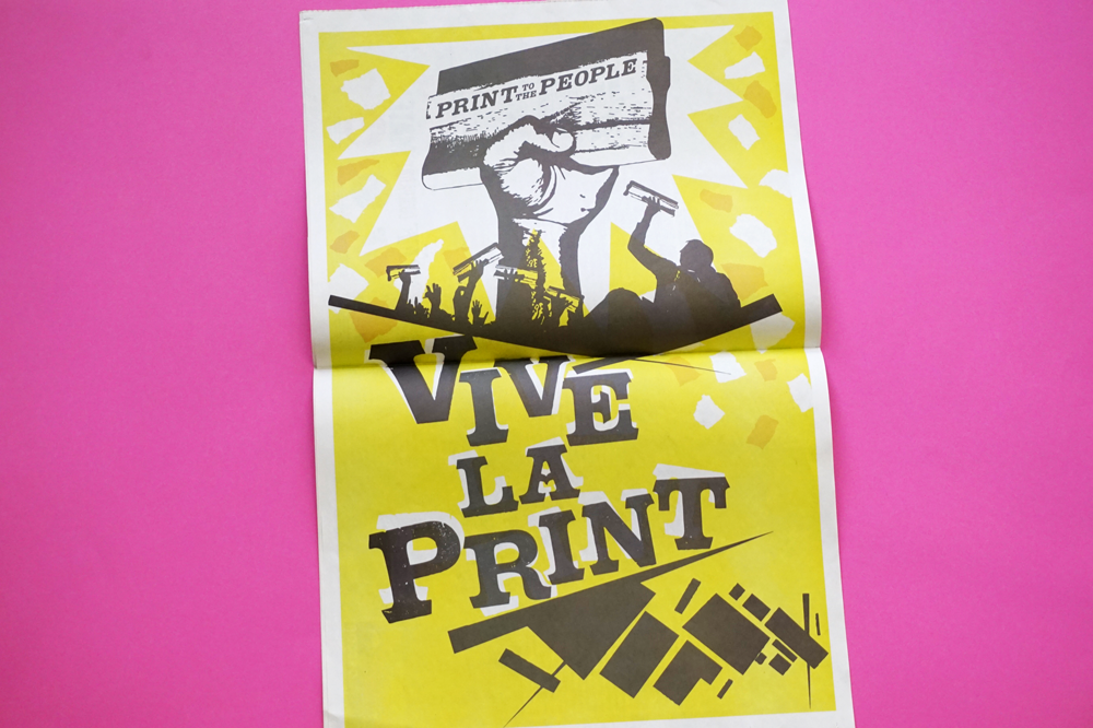 Print to the People poster printed by Newspaper Club
