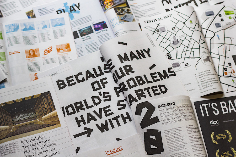 Birmingham Design Festival newspaper