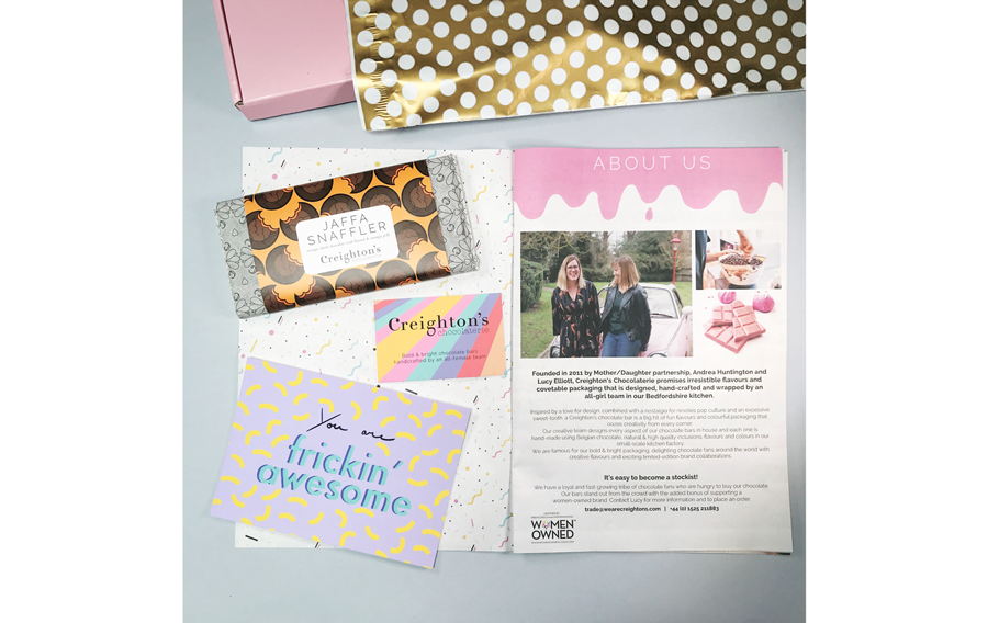 creightons chocolatiers gift box