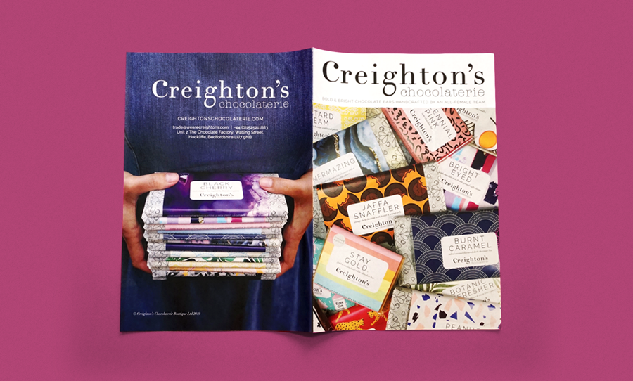 Creightons chocolate newspaper catalogue
