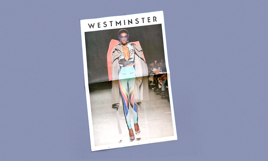 Westminster fashion lookbook newspaper