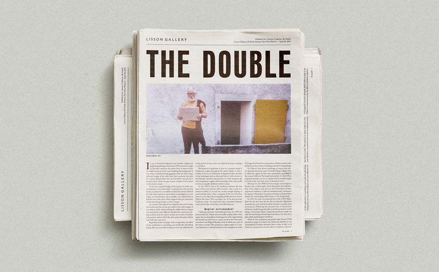The-Double Antonio Calderara Lisson Gallery newspaper