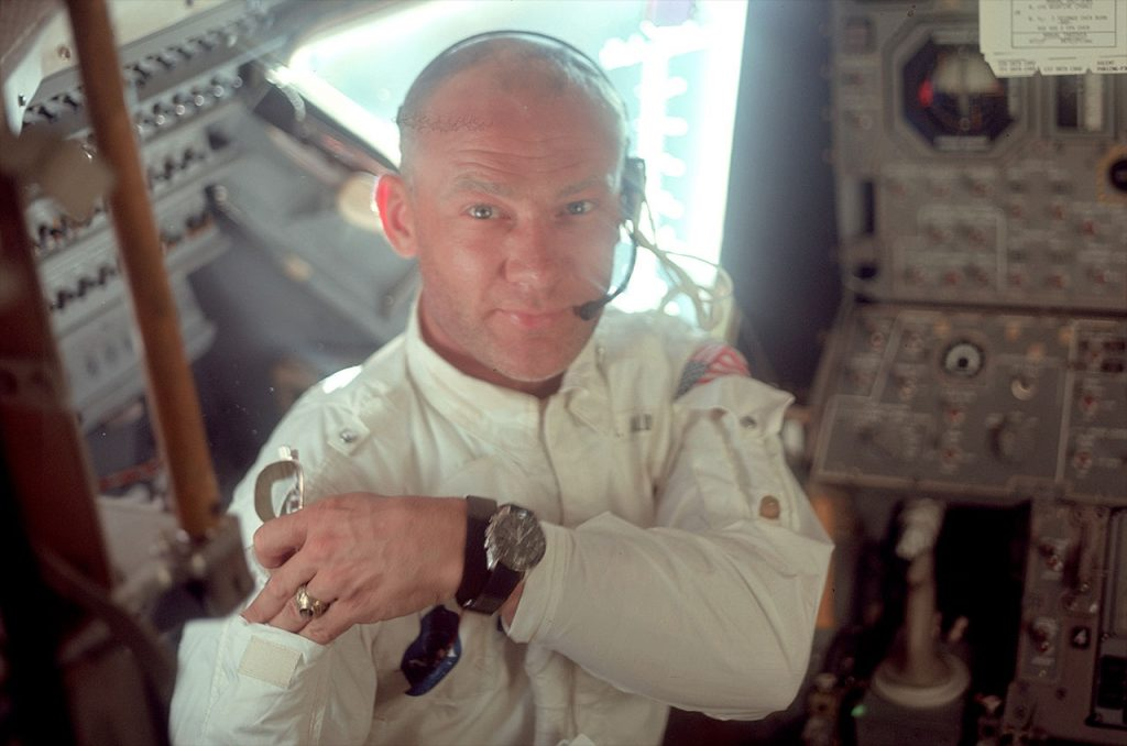 buzz aldrin omega watch moon landing